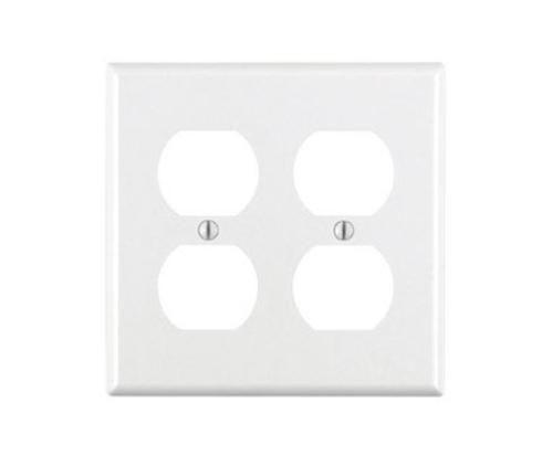 Leviton 001-88016-000 2-Gang Duplex Device Receptacle Wallplate