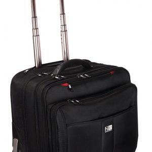 Nasher MIles Wall Stree 2 Wheeler Laptop Trolley Bag