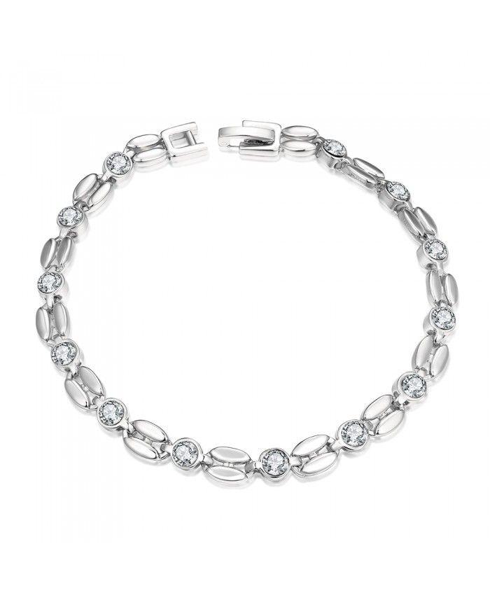 B007-B 2015 Good Quality New Fashion Nickle Free Antiallergic Platinum Plated Bracelets