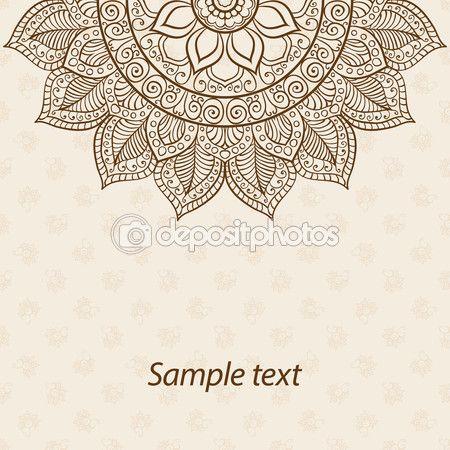 Karte oder Einladung. Mandala. Alte dekorative Elemente. Handgezeichnete Hintergrund. Islam, Arabisch, Indisch, osmanische Motive — Stockillustration #77496338