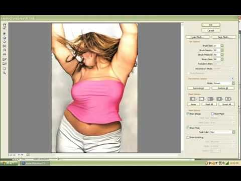 Photoshop Tutorial: How To Use The Liquify Tool To Look Skinny