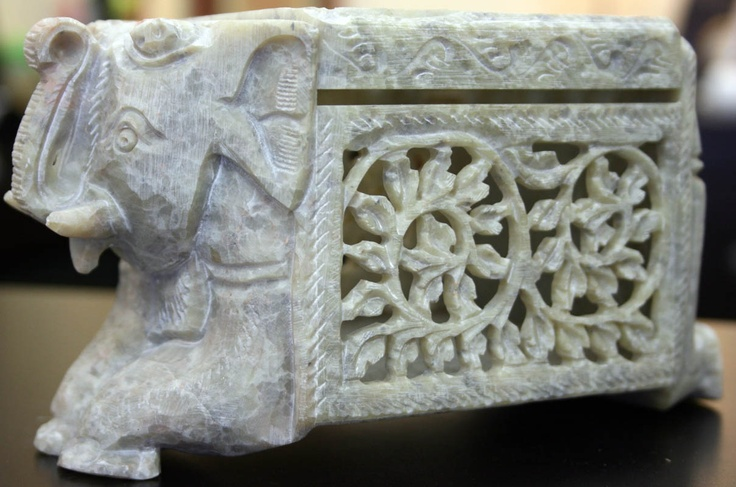 Carved Soap Stone Elephant Box | For the Home | Pinterest ...