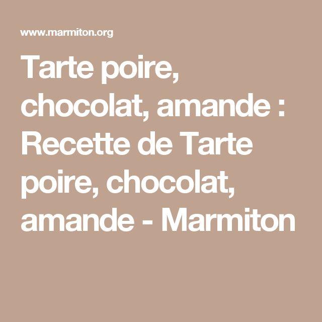 Tarte poire amande chocolat thermomix