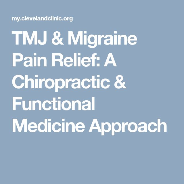 TMJ & Migraine Pain Relief: A Chiropractic & Functional Medicine Approach