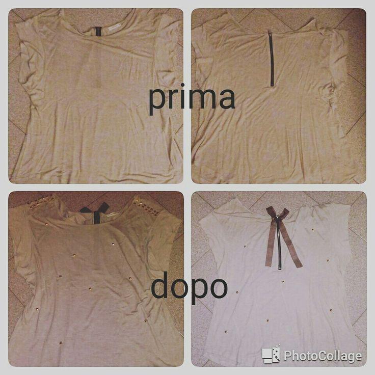 #faidame #primaedopo #maglia #borchie #fiocco #pois