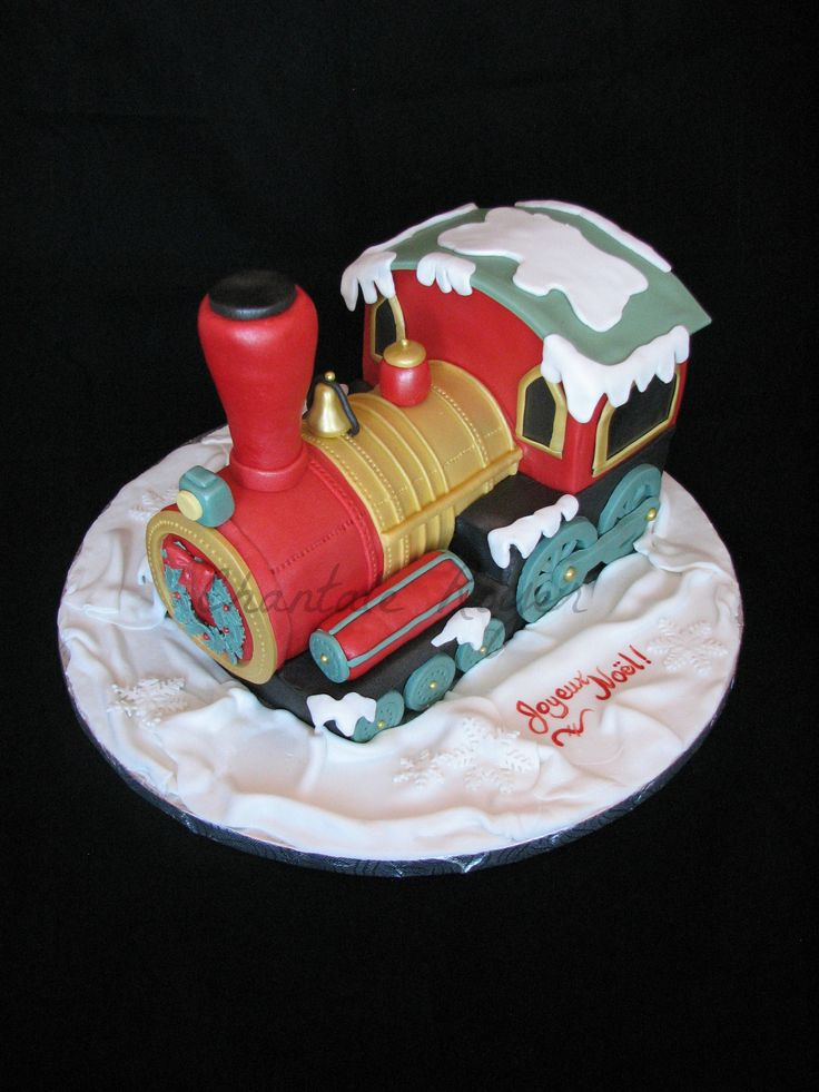 Christmas Cake Images Pinterest : Gateau train de No?l christmas cake locomotive Cake ...