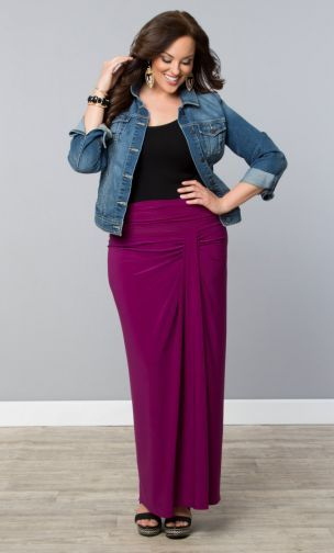 Plus Size Maxi Skirt