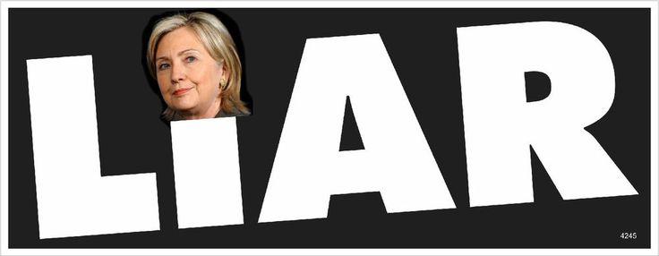 Anti Hillary Clinton Signs | Liar Hillary Clinton Anti Obama Political Bumper Sticker 4245 | eBay