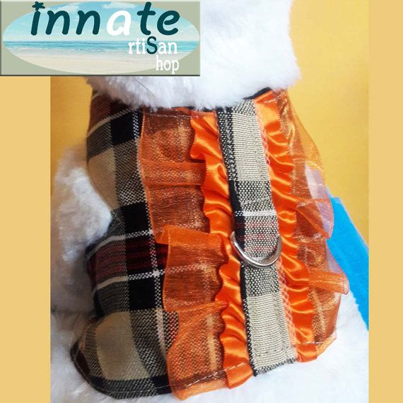 Plaid harness with frills by InnateArtisanShop on Etsy