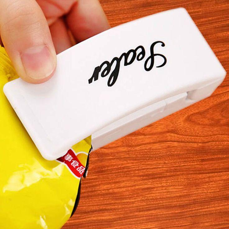 المحمولة البلاستيك حقيبة كليب الغذاء التوقف التخزين ختم فراغ مفيد حقيبة آلة حرارة الختم حقيبة السدادة إبقاء الأغذية الطازجة المنزل استخدام