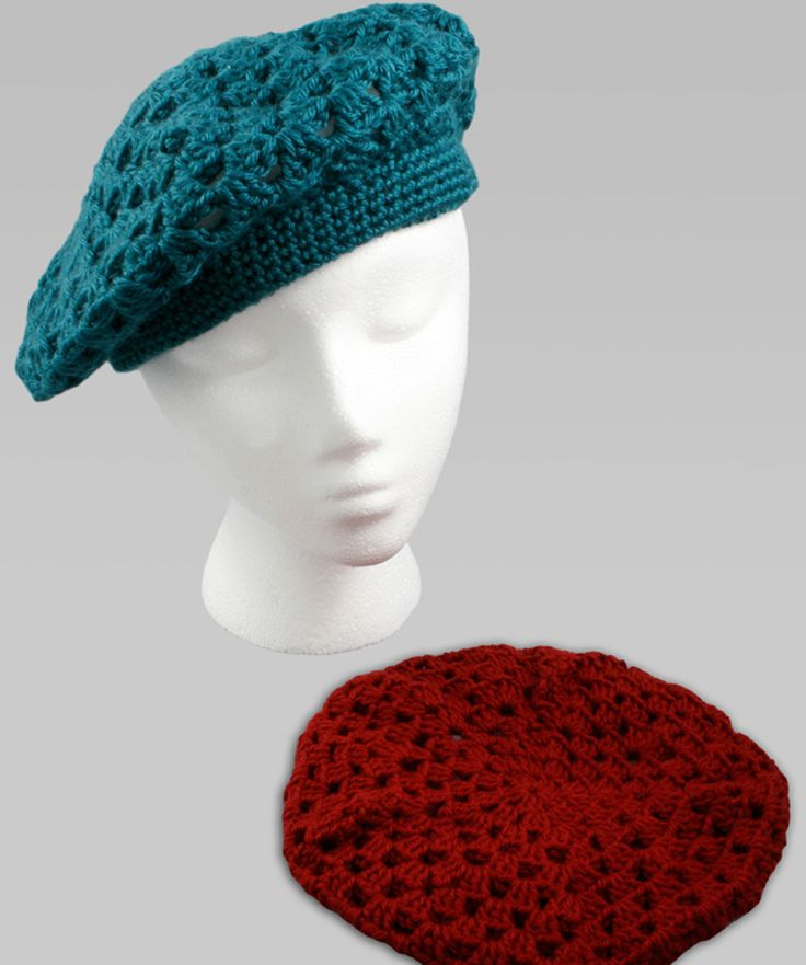 Crochet Beret - Free Download Printable Instructions from Redheart Yarn
