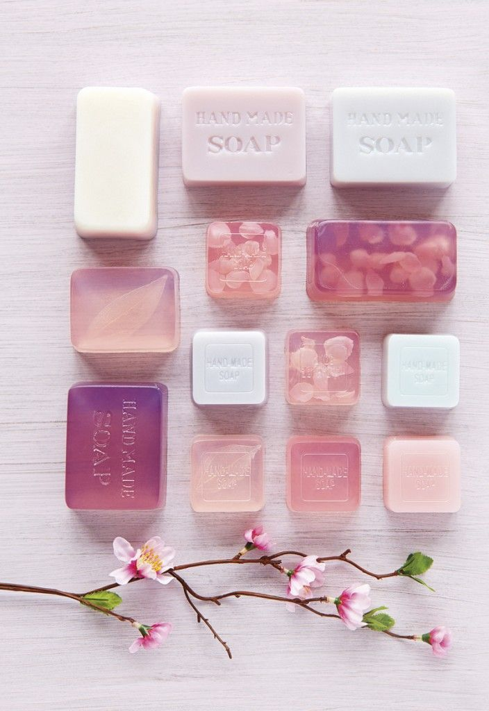 Glycerin Soap. I like the idea of creating color families.