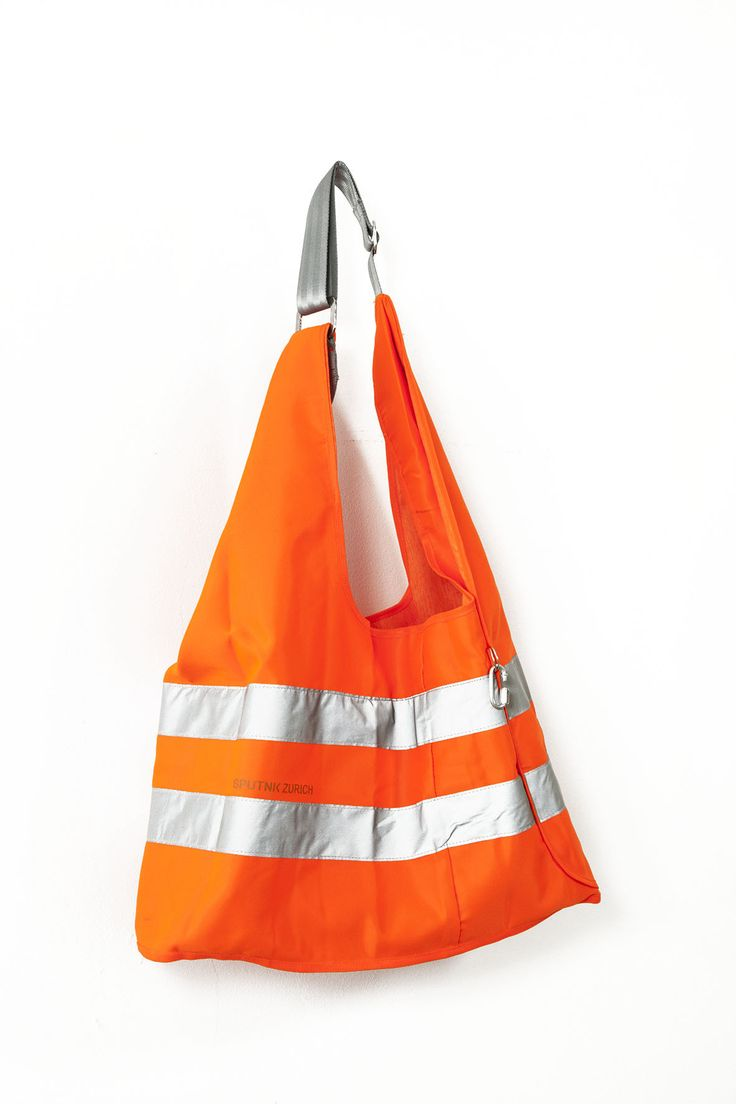 Safety vest turned high visibility bag - sewing idea perfect for biking…