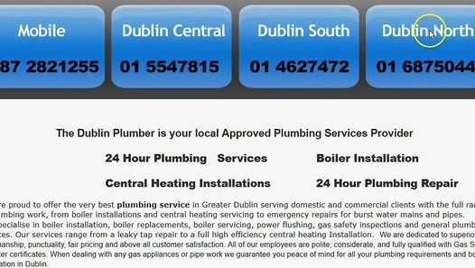 TheDublinPlumber offers Gas Boiler Replacement and Emergency Plumber Service with affordable charges, call us: Plumbers Dublin - 24 hr Call out on 0872821255 or visit at: www.thedublinplumber.com