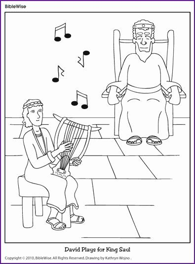 David Spares Saul Coloring Page Best Of David Plays for
