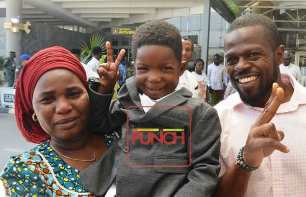 News In Picture: Young Boko Haram Victim Returns from Dubai After Successful Surgery