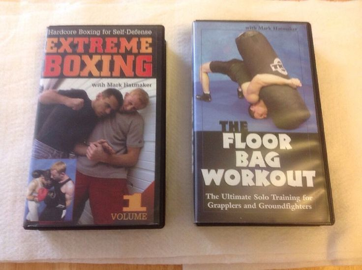 Mark Hatmaker VHS Extreme Boxing and The Floor Bag Workout Paladin Press