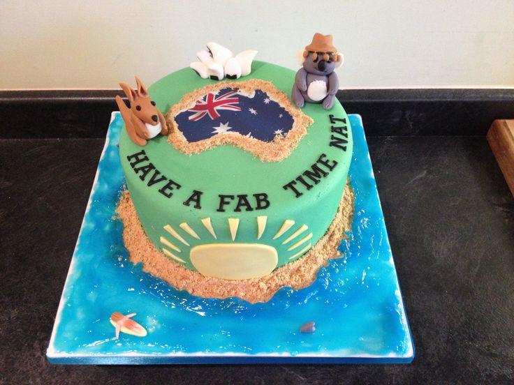 Australia Themed Cake Occupation Cakes Pinterest