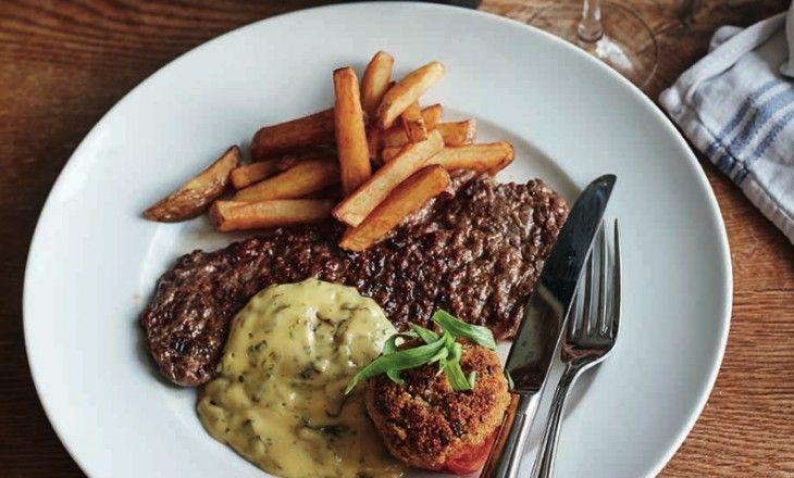 Steak minute med pommes frites