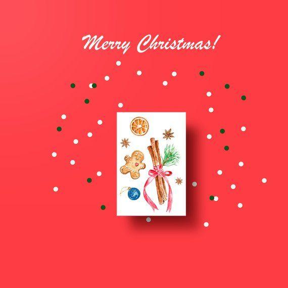 Holidays Digital Card Printable Winter Christmas Card Diy Xmas