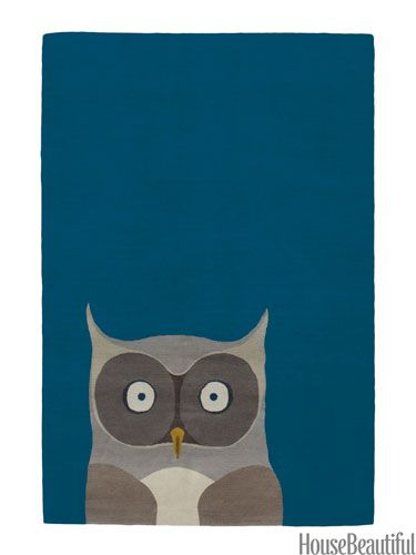Owl rug from The Rug Company.
