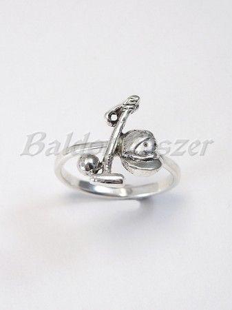 Ezüst lovaspóló gyűrű