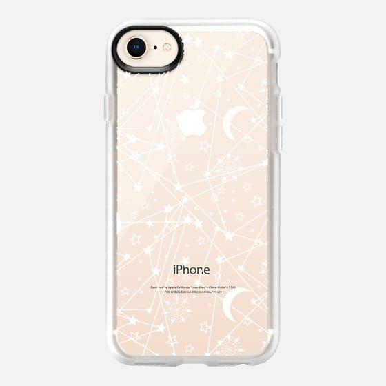 Casetify iPhone 8 Classic Grip Case - Sun moon stars white galaxy by Famenxt
