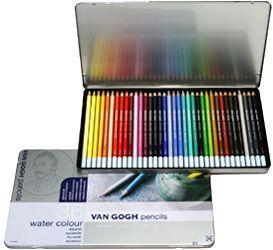 ヴァンゴッホ水彩色鉛筆36色セット(メタルケース入)