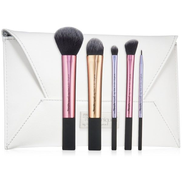 Real Techniques by Samantha Chapman, Limited Edition, Deluxe Gift Set, 5 Brushes   Clutch