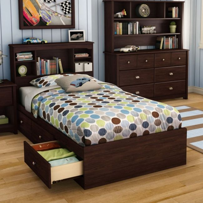Find this Pin and more on Ideas para decorar y diseñar espacios!. Willow Twin  Bookcase Storage Platform Bed ... - 49 Best Ideas For PJ's New Bedroom Images On Pinterest