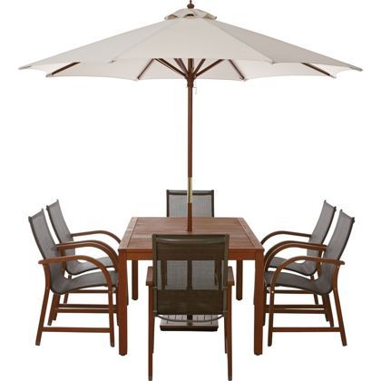 Rio 6 Seater Wooden Garden Furniture Set Garden Pinterest Gardens Garden Furniture Sets