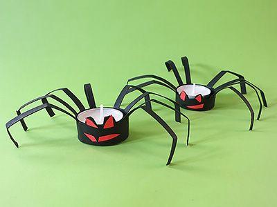 Halloween Deko Spinnen einfach selber basteln - DIY Tutorial.