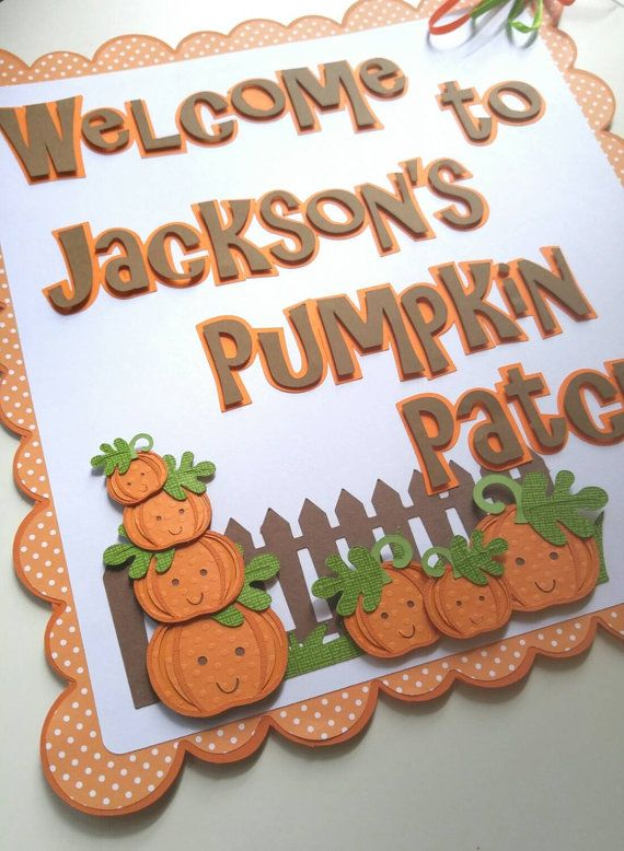 Our little pumpkin birthday party, Little pumpkin baby shower, Our little pumpkin is one banner, Pumpkin patch sign
