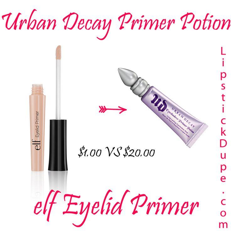 Urban Decay Primer Potion Eyeshadow Primer Dupe elf Eyelid Primer $1.00 vs $20.00 #dupe #Dupes www.lipstickdupe.com