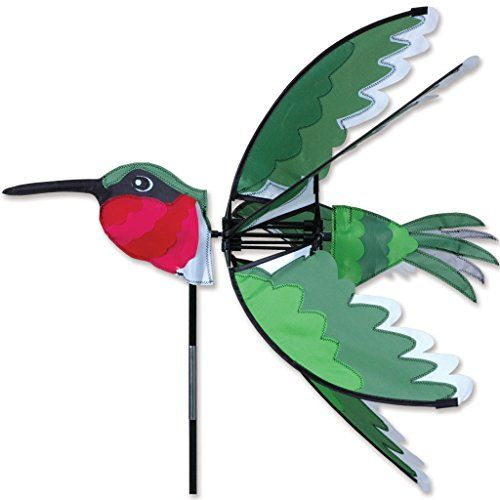 24 In. Ruby Hummingbird Spinner: A Popular Premier Kites U0026 Designs Item,  This Spiner Is The Perfect Way To Decorate Your Yard.