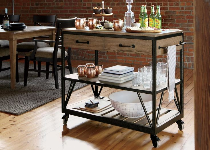 Kitchen Storage Island Cart Beam Serving Cart - Ethan Allen Upgrade Your Friday Get