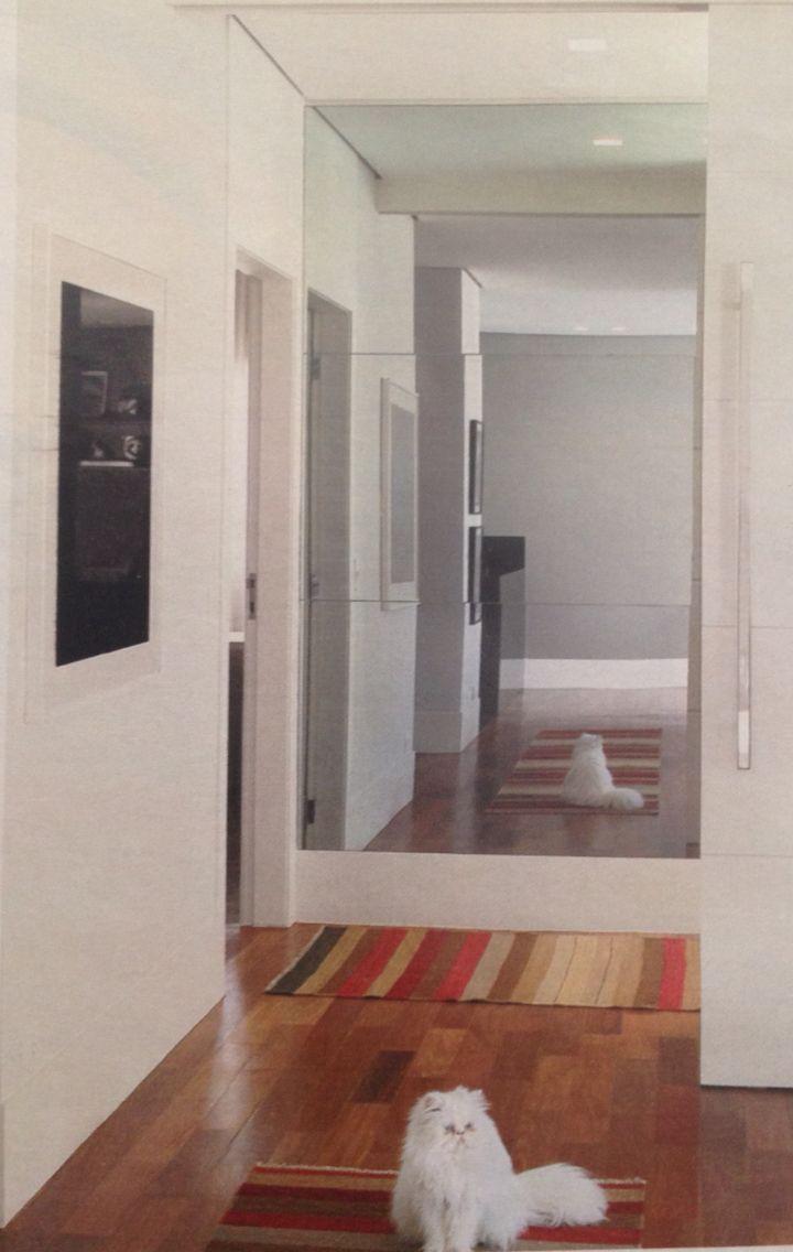 Eu Amo Artesanato Unicornio ~ Espelho no fundo do corredor Corredor Pinterest Corredores, Espelhos e Decoraç u00e3o