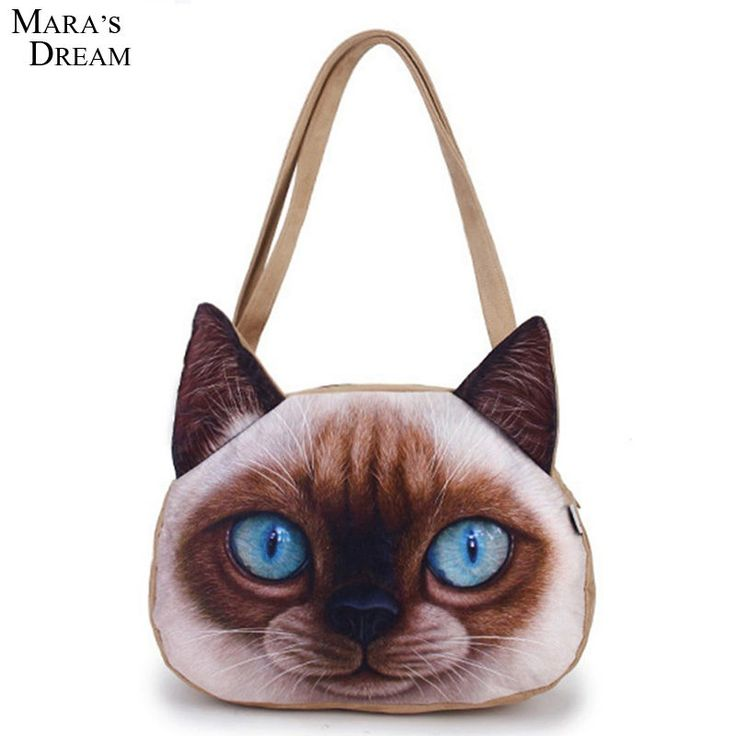 Women bolsas Cartoon Animals Bags Dog Head Personalized Tote Bag Women's Fashion Handbag 3D Printed Shoulder Bag Brand bolsa