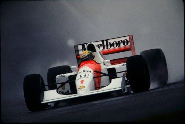 92年日本GP 雨のセナ。マクラーレン・ホンダとして最後の年。この年がセナにとって最後のカーナンバー1だった