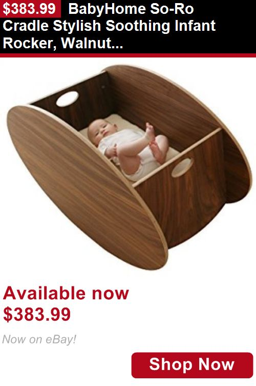 Bassinets And Cradles: Babyhome So-Ro Cradle Stylish Soothing Infant Rocker, Walnut, Single BUY IT NOW ONLY: $383.99