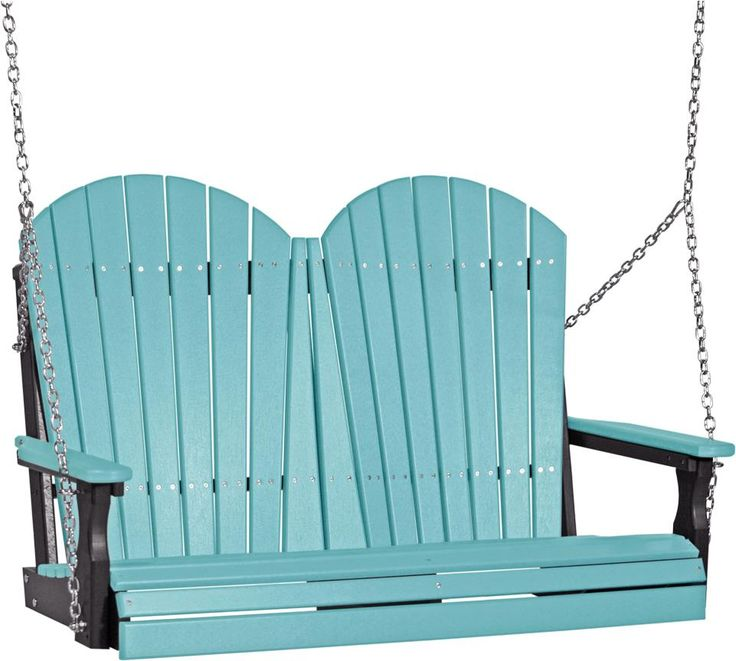 LuxCraft 4' Adirondack Poly Swing Handcrafted comfort that lasts a lifetime is yours with the eco friendly Adirondack Poly Swing.
