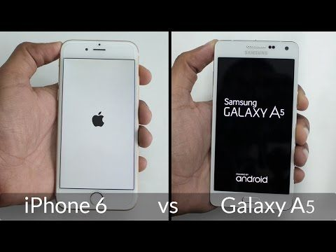 Samsung Galaxy A5 vs iPhone 6 im Speed Test (Video) ✔