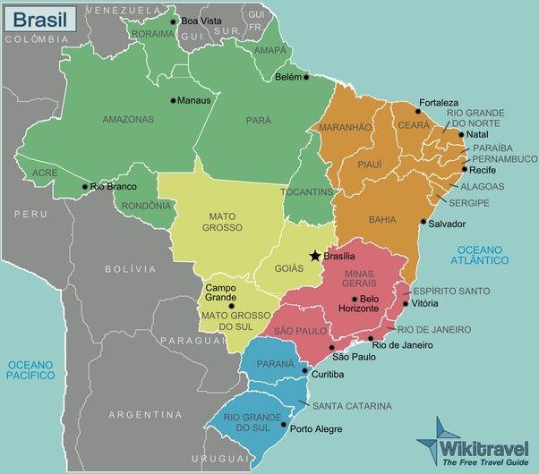 Mapa Do Brasil E Capitais Trabalho De Escola Geografia Do