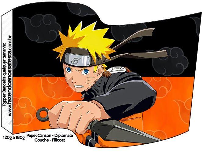 Naruto: Imprimibles Gratis para Fiestas.