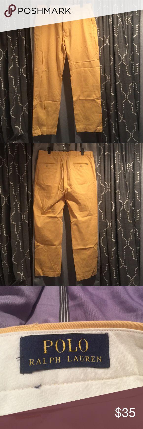 Polo Ralph Lauren Men's Pants: Size 36/32 Polo Ralph Lauren Men's pants, yellow, size 36/32, gently worn Ralph Lauren Pants