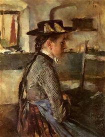 In Erwartung - Wilhelm Leibl
