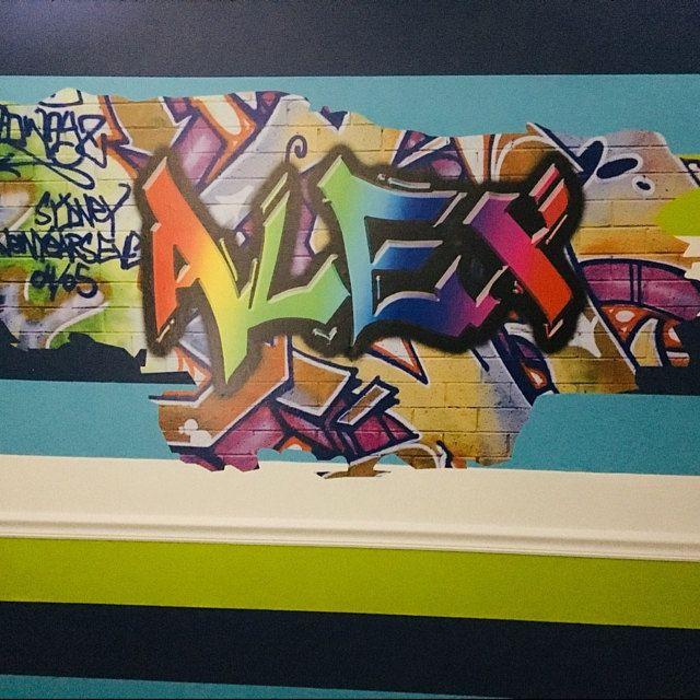 Art Wall Mural Wall Sticker Kids Wall Decal Boys Wall Etsy Graffiti Wall Dinosaur Wall Decals Kids Wall Decals