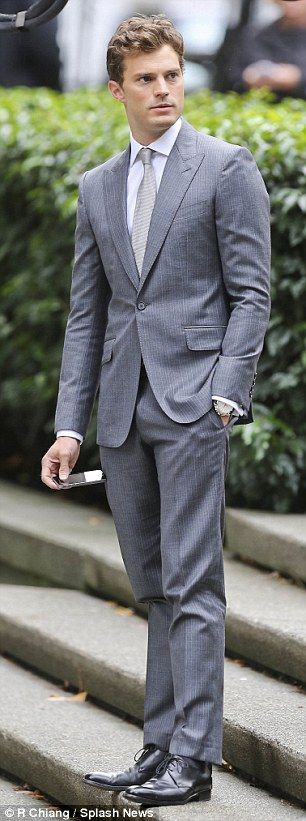 Take two: Jamie Dornan and Dakota Johnson were seen on the Vancouver set of Fifty Shades o...