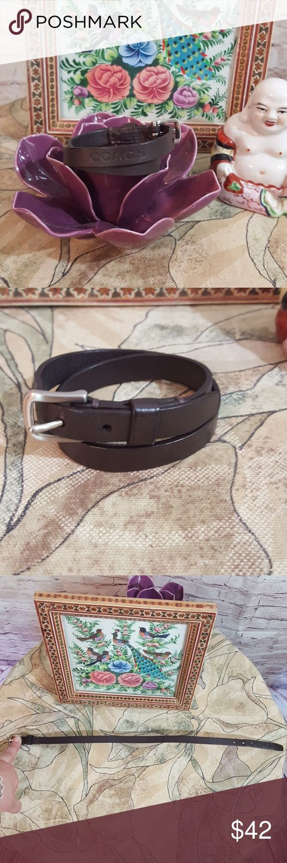 Coach Leather Wrap Bracelet This Trendy Adjustable  Wrap Bracelet is Sure To Please... It's Approx 18in in length Coach Jewelry