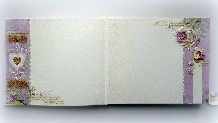 Скрап-блокнот: Сиреневый свадебный альбом